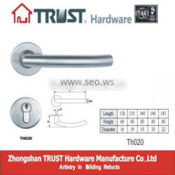 TH020:Stainless Steel Hollow door Handle with Escutcheon