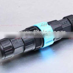 M25 2 poles snap-in style auto locking waterproof connector