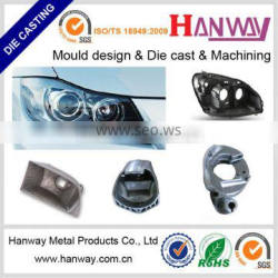 Guangdong manufacture OEM aluminum die casting automobile led headlight housing, motorcycle headlight enclosure