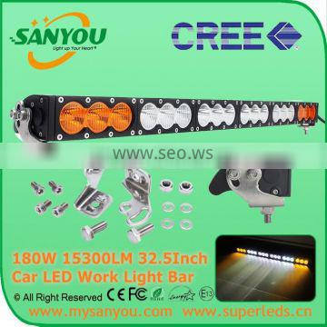Sanyou 180W 15300lm dual color spot beam LED Auto Light Bar, 32.5inch 6000K light bar for offroad, Jeep, SUV