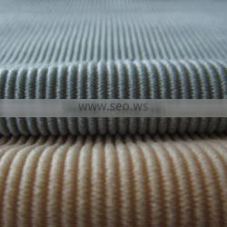 100% polyester tricot corduroy