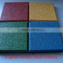 Safety rubber mat for outdoor playground