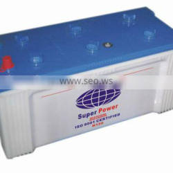 12V 150AH dry charged auto battery