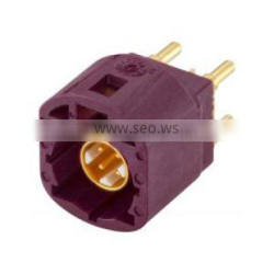 w. housing D Coding Bordeaux violet Color 4 pin Plug Straight PCB mount High Speed Data HSD Connector