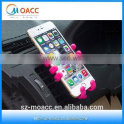 Air conditioning outlet car mobile holder,silicone Cartoon universal car phone holder
