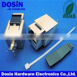 hot sale UTP toolless keystone jack, RJ45 connector with led and emi