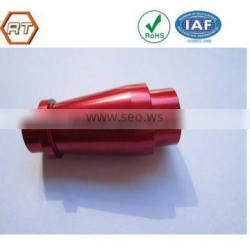 Customized red anodized finished cnc bike parts
