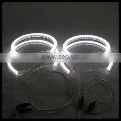 car e46 non projector angel eyes headlights halo rings kits white 42 smd led angel eyes for bmw e46