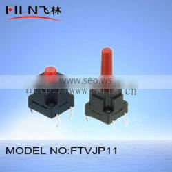 FTVJP11 4pin tact push button metal touch switch