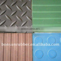 3mm to 6mm thickness various patterns anti-slip rubber mat