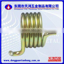 The Torsion springs with 0.08mm to 4.0mm wire diameter is used in computer and electrical appliances,SUS301 and steel