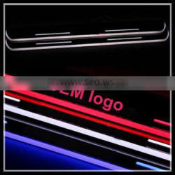 auto parts led door sill scuff plate for Mercedes Ben.z C W205 2008-2013 waterproof led moving door scuff light