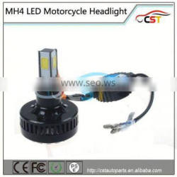 2016 New Design Laser Logo 4 COB led Mh4 motorcycle headlight with 12 months warranty