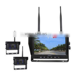 Remote Control 9inch Quad,Split Display 2.4G Wireless Monitor with Built-in Wireless Transmitter Truck Reverse Camera