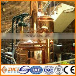 micro red copper hotel beer brew machine draught beer brewing equipment