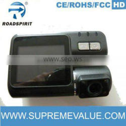 Regretless Choice for supportive night vision motion detect logger 2ch car black box with 1280*720 Pixel