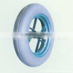 wheelbarrow spare part rigid durable specification standard high quality rubber wear-resisting solid rubber wheel YSO013