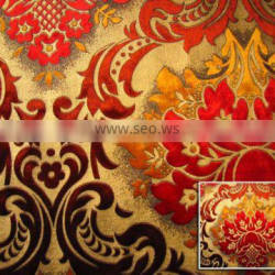 Woven Velvet Fabric with Gold--Sofa,Curtain Upholstery Fabric