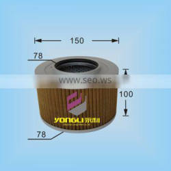 Hydraulic oil filter element P850