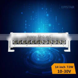 shenzhen factory top quality DC10-30v 72w led bar with spot/flood/combo beam