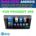 Whole sale 10inch android operating car stereo mp3 radio player for peugeot 408 with 3g wif bt mirror link