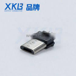 Factory direct supply micro 5p plug solder plate type micro usb connector