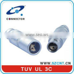 metal male and female electrical connector