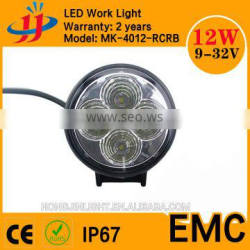 12w 4inch round led working lamp high power for motorcycle led lighting