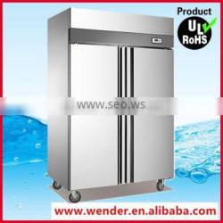 1000L New Style double doors stainless steel upright commercial lg deep freezer
