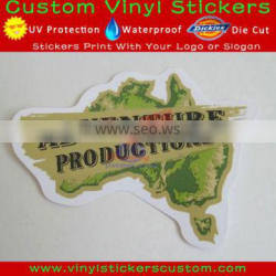 advertising sticker printing vinyl car sticker/bubble free stickers for cars