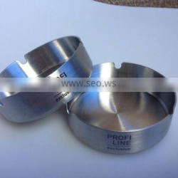 Wholesale Stackable round D10cm stainless steel ashtray ash bin