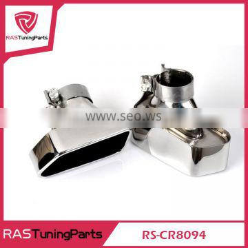 Chrome 304 Stainless Steel Exhaust Muffler Tip For 2013-2014 5 Class F18 / F10