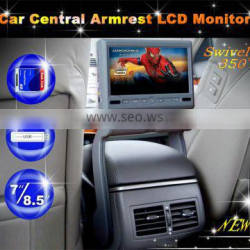 8.5 inch car central armrest display monitor touch screen DVD MP5 player