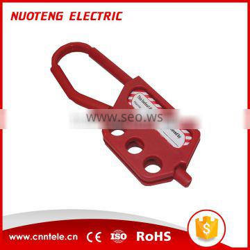 NH03 Three Holes Red Plastic Lockout Hasps For Industrial Safety