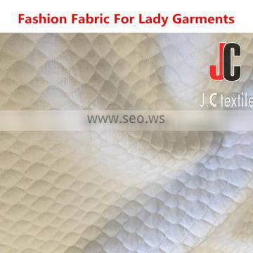 SHAOXING importers 96% polyester 4%spandex Textured double knit jacquard fabric