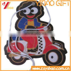Wholesale cheap custom various fragrance/scent hanging paper type car air fresheners