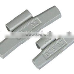 Steel clip-on wheel weight for steel and alloy wheel