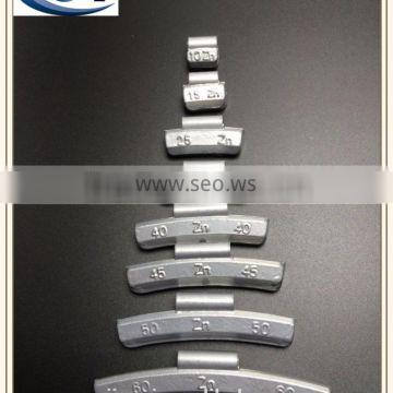 50g Zn zinc clip on wheel weight for alloy rims