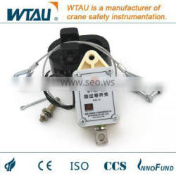 Over-wind protection switch for cranes
