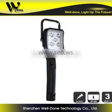 15w battery powered handheld portable led work light for camping, vehicle