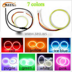 7 color COB Led Lamp Halo Rings Angle Eyes Lights Led headlight for All Cars 90mm Quality Choice