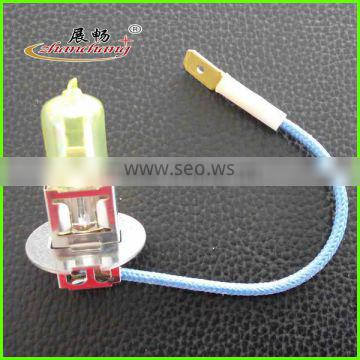 halogen bulb EMARK approved h3 auto bulb Yellow Color