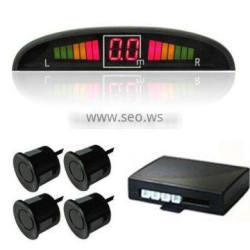 Human speaking LED parking sensor with 4 rear sensors and display with Switch