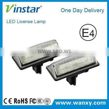 New products 18SMD LED License Plate Lamp TEANA modle number plate led rear light