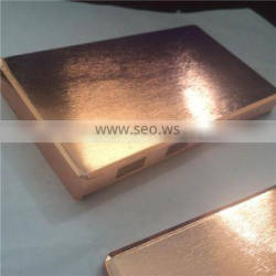 custom made three-dimensional box in copper brass plating Metal solid box