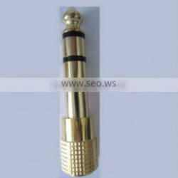 6.3MM PLUG TO 3.5MM STEREO JACK METAL GOLD , AUDIO AND VIDEO CONNECTOR