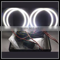 4x131mm auto drl xenon projector bright 120 smd led angel eyes kit for bmw e46 halo ring headlight with 4 angel ring 2 inverter
