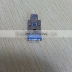 2015 Hot selling USB 3.0 male to Micro usb male 2 in 1 SMD Connector