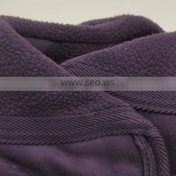 Hot sell 100 Poly sherpa fleece bonding with suede fabric made in China