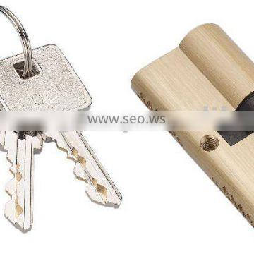 double security solid brass cylinder lock with 3pcs double line keys